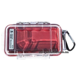 Pelican 1015 Case - Clear / Red