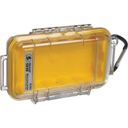 Pelican 1015 Case - Clear / Yellow