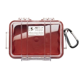 Pelican 1020 Case - Clear / Red