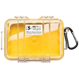 Pelican 1020 Case - Clear / Yellow