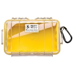 Pelican 1050 Case - Clear / Yellow