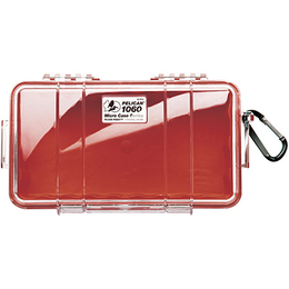 Pelican 1060 Case - Clear / Red