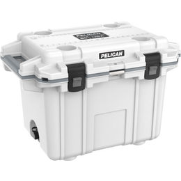 Pelican 50QT Elite Cooler - White/Grey