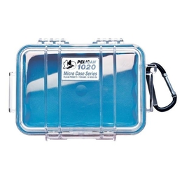 Pelican 1020 Case - Clear / Blue
