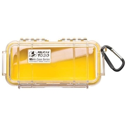 Pelican 1030 Case - Clear / Yellow