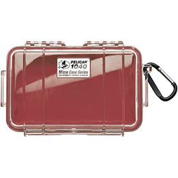 Pelican 1040 Case - Clear / Red