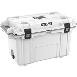 Pelican 70QT Elite Cooler - White/Grey